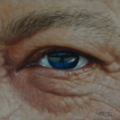 "Eye Study,                  oil/board, 6""x6"""